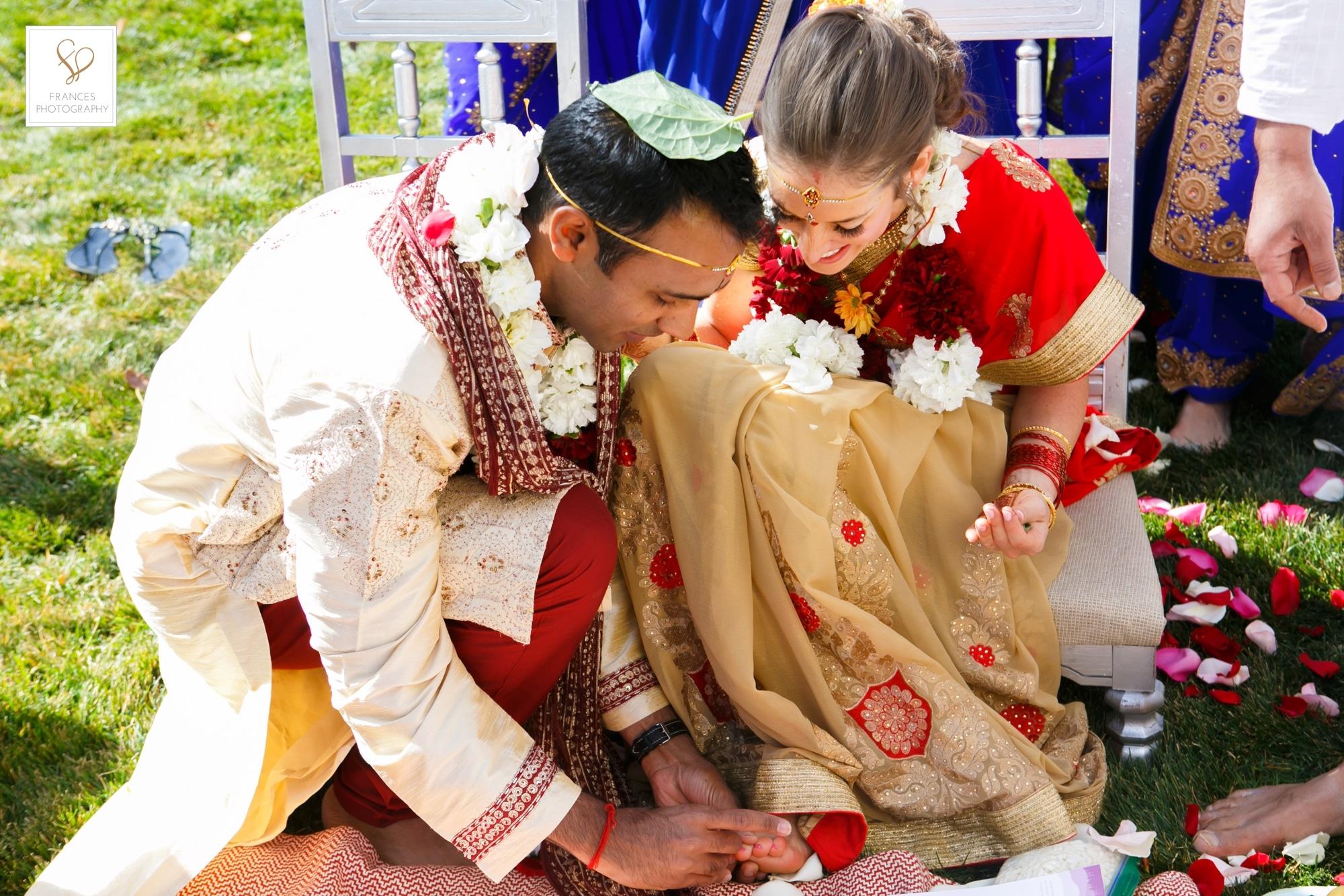 Hindu wedding photography bride groom Colorado